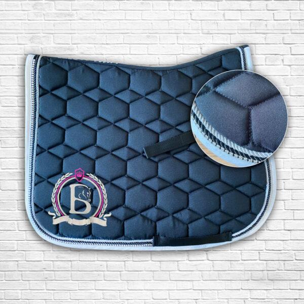 Black & Hot Pink Diamante Saddle Cloth
