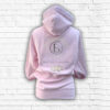 Ladies Blush, Cream & Silver Team Cross Necked Hoodie - Back
