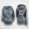 Ladies Dark Grey & Blush Cross Neck Hoodie