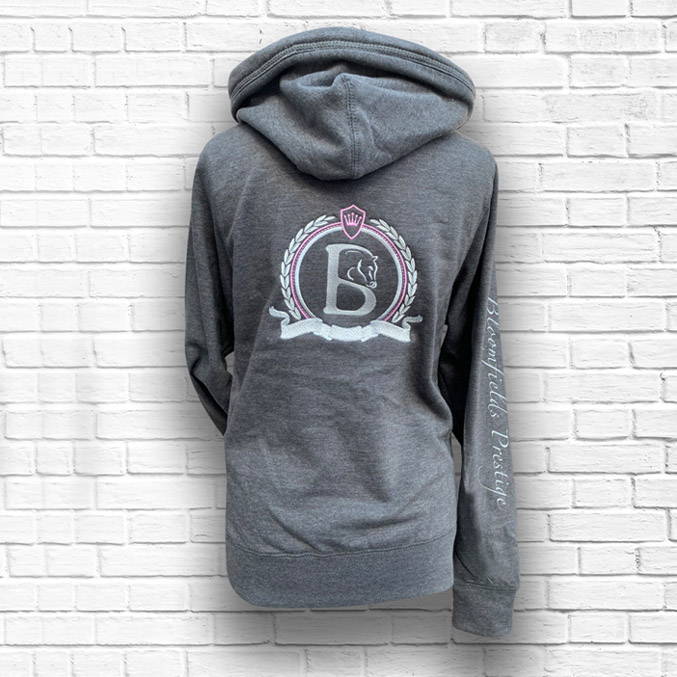 cross hoodie back with on
