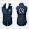 Ladies Fitted Black & Hot Pink Gilet