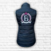 Ladies Fitted Black & Hot Pink Gilet - Back