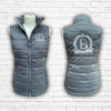 Ladies Fitted Grey And Silver Gilet