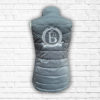 Ladies Fitted Grey And Silver Gilet - Back