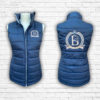 Ladies Fitted Navy And Rose Gold Gilet