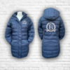 Ladies Quilted Navy, Silver & Rose Gold Coat