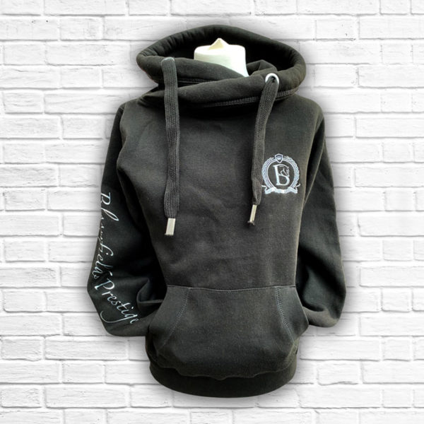 Prestige Black And Silver Hoodie - Front