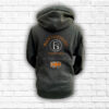 Unisex Black, Orange & Silver Team Cross Neck Hoodie - Back