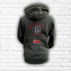 Unisex Black, Red & Silver Team Cross Necked Hoodie - Back