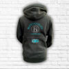 Unisex Black, Teal & Silver Team Cross Neck Hoodie - Back