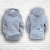 Unisex Heather Grey, Teal & Silver Team Crossed Neck Hoodie